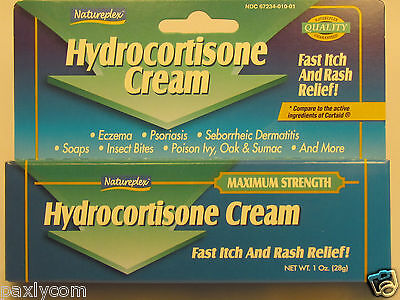 Natureplex Hydrocortisone Fast Itch,Rash Relief Soothing & Cooling Cream 1oz(28g
