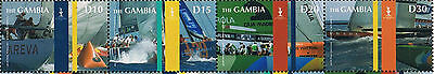 Gambia Scott #3141 Strip of 4 Stamps Ships / Sailing Vessels