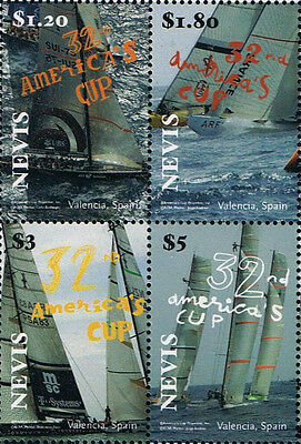 Nevice Scott #1536 Block of 4 Stamps Ships / Sailing Vessels