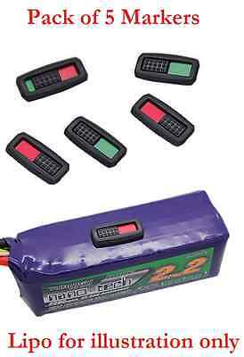 orangeRX Battery Charge Marker - Essential Lipos indicators! - 5 Pack - UK STOCK