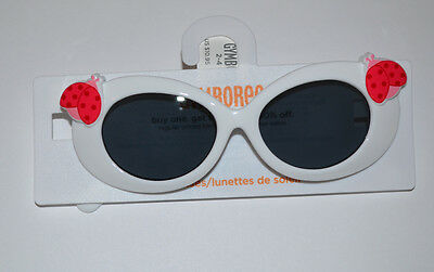 NWT Gymboree Toddler Girl White Ladybug Sunglasses 0-2  2-4 yrs or 4 & Up U PICK