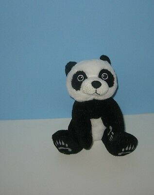 Soft 2010 Rinco BABY PANDA BEAR Plush Stuffed Animal w/ Grey Paws