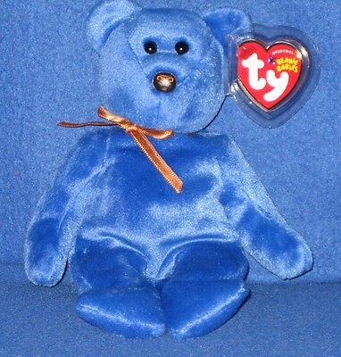 TY PROMISE the BLUE BEAR BEANIE BABY - NWM EXCLUSIVE - MINT with MINT TAGS