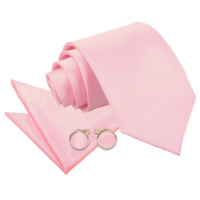 New Dqt High Quality Baby Pink Men's / Skinny / Boy's Tie + Accessories