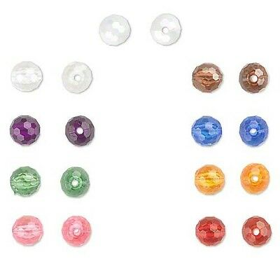 Huge 100 Gram Lot of 8mm Plastic Acrylic Faceted Round Beads Choose Your Color
