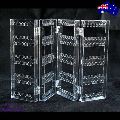 Earring HOLDER Display Stand Organiser | Clear ACRYLIC | 4 Fold | AUSSIE Seller