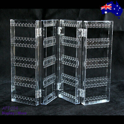 Earring Holder Display Stand Organiser-Clear Acrylic-4 Fold | AUSSIE Seller