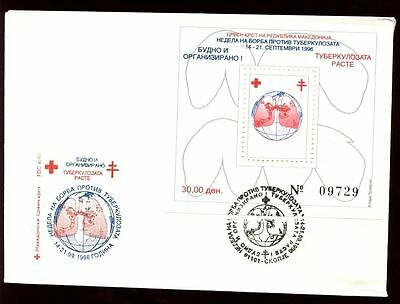 Macedonia 1996 Anti-Tubercolosis Week M/S FDC #C8747