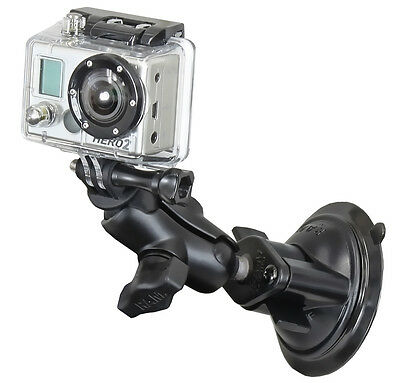 RAM-B-166-A-GOP1U Suction Cup Mount with Custom GoPro Hero Adapter