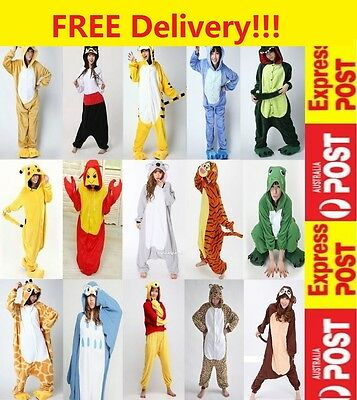 Adult Unisex Fleece Animal Cosplay Costume Kigurumi Pajamas Sleepwear one piece