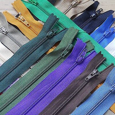 """1 X Closed End Zip- Choose Your Size And Colour From 4""""- 22""""-  Free Uk P & P ***"""