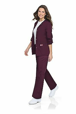 New Landau Scrubzone Women's Warmup Jacket Nursing Uniform Large Patch Pockets