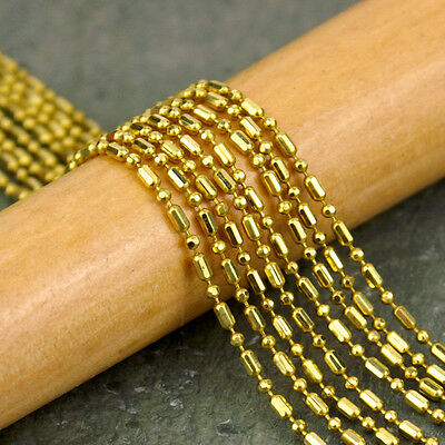 Solid Brass Ball Chains with long bead c51(3ft)