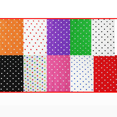 """Pea Spot Polycotton Fabric Spotted Polka Dot Craft Material 115cm / 45"""" Wide"""
