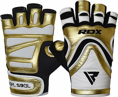RDX Weight Lifting Gym Gloves Fitness Bodybuilding Training Wrist Workout GD