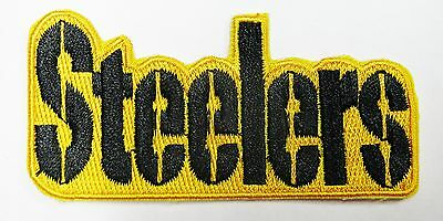 "Lot Of (1) Nfl Steelers Embroidered  Name Iron-On Patch (3"" X 1 1/2"") Item # 33"