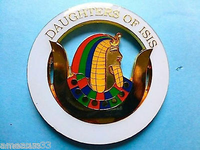 Grand Chapter Nile Freemasonry Girls Daughters  Of Isis Auto Cut Out Car Emblem