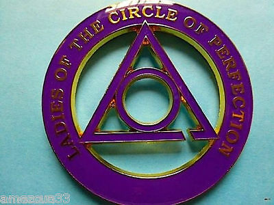 Ladies Of the Circle Of Perfection Cut Out Alloy Zinc Car Emblem