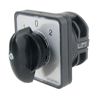 AC 440V 240V on-off-on Position Rotary Knob Changeover Switch