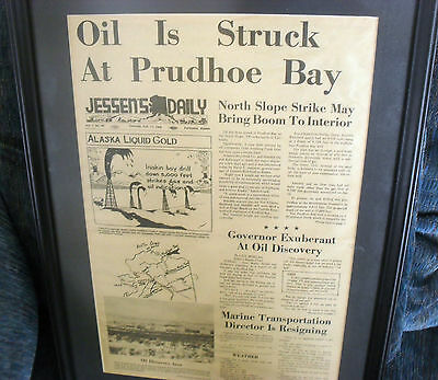 1968 OIL STRUCK AT PRUDHOE Alaska Jessen's Daily ARCO HUMBLE Anchorage Fairbanks
