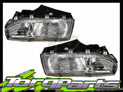 Headlights Pair Suit Holden Commodore Vl Executive Berlina Calais Headlamp Head