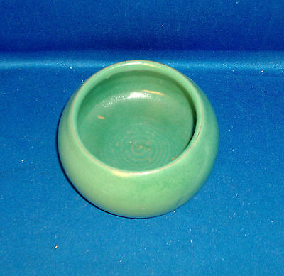 Antique 1910 American Art Pottery Bowl Mission Arts & Crafts Green Early 20th c.