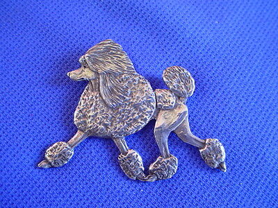 Original Sterling Silver poodle trotting pin Dog Jewelry by Cindy A. Conter