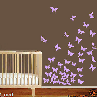 BUTTERFLIES  Removable wall decal