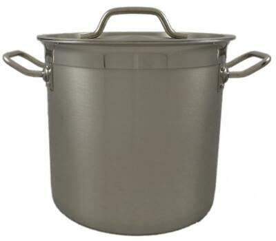 New Commercial 12L Stainless Steel Stock Pot Saucepan With Forged Triple Bottom