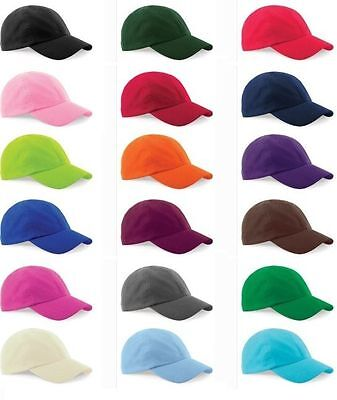 Kids Childs Boys Girls Adjustable Original Plain Baseball Cap 100% Cotton Blank