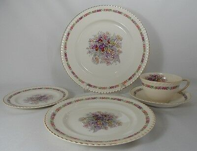 Johnson Brothers Queens Bouquet Five Piece Place Setting