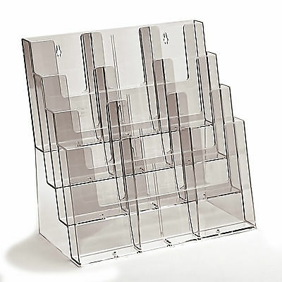 Leaflet display stand / holder for A4, DL, A5, 1/3rd A4 - counter or wall use