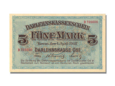 Banknoten Germany, 5 Mark Type Kowno