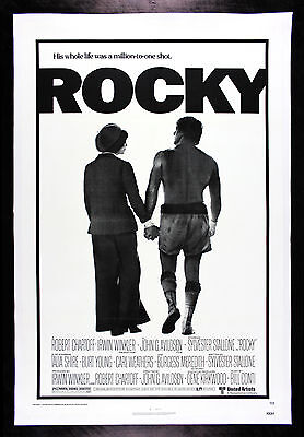 ROCKY * CineMasterpieces ORIGINAL MOVIE POSTER BOXING STALLONE LINEN 1976