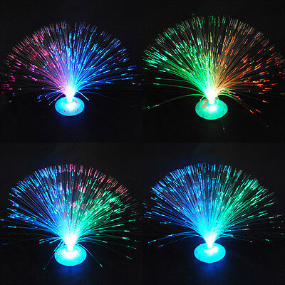 New Color Changing LED Fiber Optic Nightlight Lamp Light Stand Home Decoration