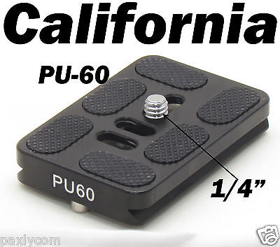 PU-60 Quick Release Plate Tripod Ballhead Arca Swiss PU60 Ball Head QR Slide in