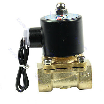 """Brass 12V DC 1/2"""" Electric Solenoid Valve Water Air Fuels Gas Normal Closed New"""
