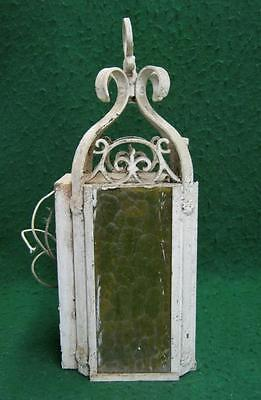 Antique Decorative Wall Light Yellow Stained Glass #1814-13