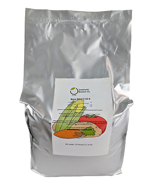 25 LB Organic Bone Meal 3-15-0 Plus 24% Calcium Great for Blooms & Roots Growth