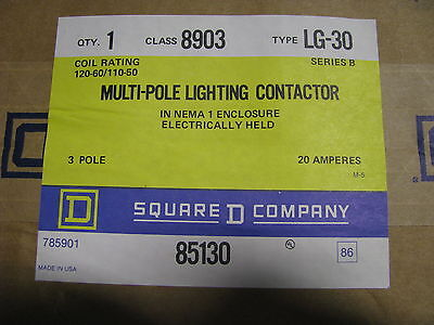 Square D Multipole Lighting Contactor # 8903-Lg-30 Nsn: 5945-01-215-7926  Nib