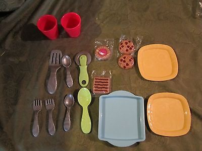 Fisher Price Servin' Surprises Replacement Parts kitchen plate fork spoon dish