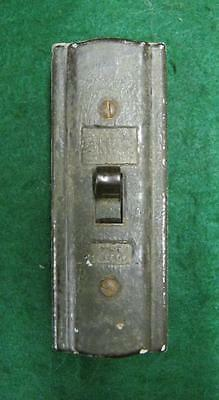 Porcelain Antique Lighting Single Pull Switch Tested #1821-13