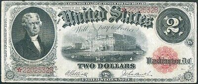 Fr58* $2.00 Legal Tender 1917 Series Elliot-White Star Note Hv5064