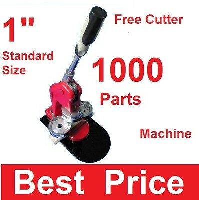 "1"" 25mm Artec Button Maker Machine + 1,000 Parts + Circle Cutter USA Best Price"