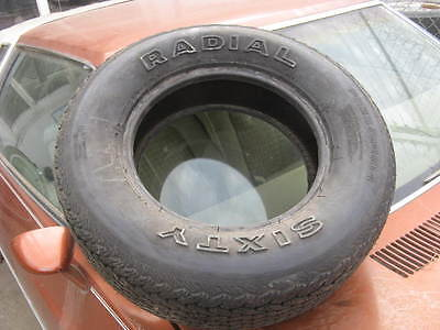 NOS Radial Sixty P235/60R14 vintage tire, raised white letters