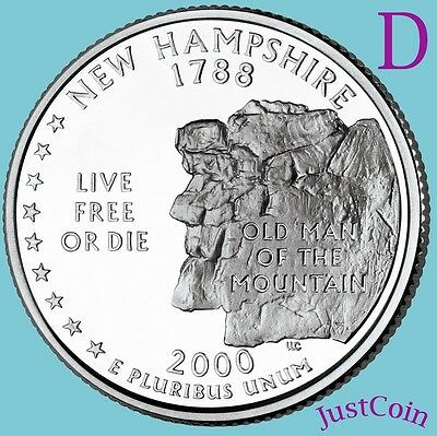 """From US Mint Bag 2000 P South Carolina State Quarter /""""BU/"""" 40 Coin Roll"""