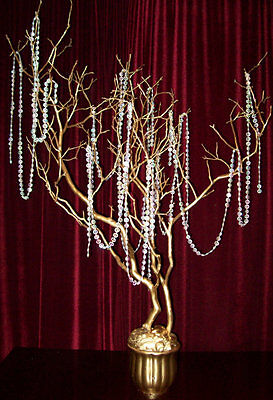 1 metre hanging beaded garland wedding table centrepiece decoration shabby chic