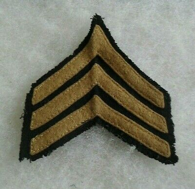 1920's/30's Us Army Sgt Variant Od Wool Sew On Chevs On Black Wool