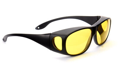 Driving Glasses Anti Glare Yellow Tinted HD Lens Skiing Gaming Clear Vision NEW