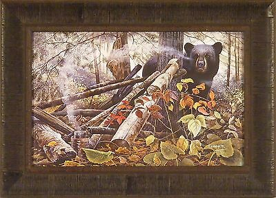 END OF THE TRAIL by Chris Kuehn Bear Hunting 16x22 FRAMED PRINT PICTURE